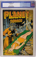 Golden Age (1938-1955):Science Fiction, Planet Comics #41 (Fiction House, 1946) CGC VF+ 8.5 Cream tooff-white pages....