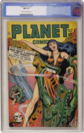 Golden Age (1938-1955):Science Fiction, Planet Comics #51 (Fiction House, 1947) CGC NM 9.4 Cream tooff-white pages....