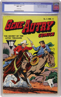 Gene Autry Comics #3 Mile High pedigree (Fawcett, 1942) CGC NM+ 9.6 Off-white pages