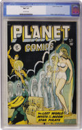 Golden Age (1938-1955):Science Fiction, Planet Comics #56 (Fiction House, 1948) CGC NM 9.4 Off-whitepages....
