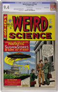 Golden Age (1938-1955):Science Fiction, Weird Science #13 (#2) Gaines File pedigree (EC, 1950) CGC NM 9.4Off-white pages....