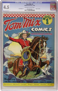 Golden Age (1938-1955):Western, Tom Mix Comics #1 (Ralston-Purina Co., 1940) CGC VG+ 4.5 Off-whiteto white pages....