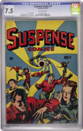 Golden Age (1938-1955):Horror, Suspense Comics #9 (Continental Magazines, 1945) CGC VF- 7.5Off-white pages....