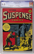 Golden Age (1938-1955):Horror, Suspense Comics #6 (Continental Magazines, 1944) CGC FN 6.0Off-white to white pages....