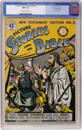 Golden Age (1938-1955):Religious, Picture Stories from the Bible - New Testament Edition No. 3 GainesFile pedigree (EC, 1946) CGC NM+ 9.6 Cream to off-white pa...