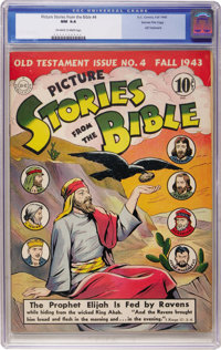 Picture Stories from the Bible - Old Testament Issue No. 4 (DC, 1943) CGC NM 9.4 Off-white to white pages