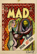 Original Comic Art:Miscellaneous, Harvey Kurtzman - Mad #22 Cover Proof (EC, 1955)....