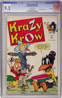 Krazy Krow #2 Vancouver pedigree (Marvel, 1945) CGC NM- 9.2 White pages
