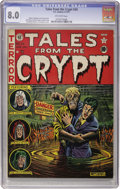 Golden Age (1938-1955):Horror, Tales From the Crypt #24 (EC, 1951) CGC VF 8.0 Off-white pages....