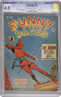 Golden Age (1938-1955):Miscellaneous, Funny Pages #42 (Centaur, 1940) CGC VG 4.0 Cream to off-white pages....