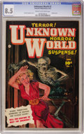 Golden Age (1938-1955):Horror, Unknown World #1 (Fawcett, 1952) CGC VF+ 8.5 Cream to off-whitepages....