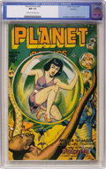 Golden Age (1938-1955):Science Fiction, Planet Comics #44 Rockford pedigree (Fiction House, 1946) CGC NM 9.4 Cream to off-white pages....