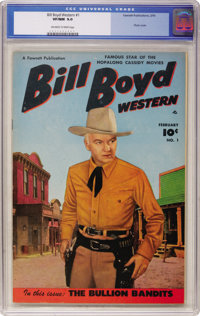 Bill Boyd Western #1 (Fawcett, 1950) CGC VF/NM 9.0 Off-white to white pages