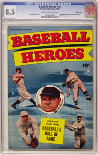 Baseball Heroes #nn Crowley Copy pedigree (Fawcett, 1952) CGC VF+ 8.5 Cream to off-white pages