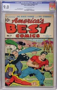 America's Best Comics #17 (Nedor Publications, 1946) CGC VF/NM 9.0 Cream to off-white pages