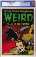 Golden Age (1938-1955):Horror, Weird Tales of the Future #4 (Aragon, 1952) CGC FN+ 6.5 Cream tooff-white pages....