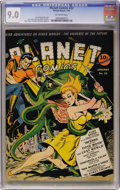 Golden Age (1938-1955):Science Fiction, Planet Comics #22 (Fiction House, 1943) CGC VF/NM 9.0 Off-whitepages....