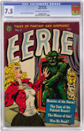 Golden Age (1938-1955):Horror, Eerie #3 (Avon, 1951) CGC VF- 7.5 Off-white to white pages....