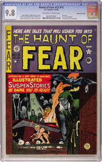Haunt of Fear #15 (#1) (EC, 1950) CGC NM/MT 9.8 Off-white to white pages
