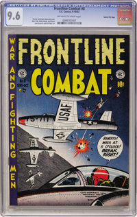 Frontline Combat #8 Gaines File pedigree (EC, 1952) CGC NM+ 9.6 Off-white to white pages