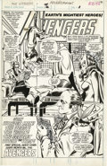 Original Comic Art:Splash Pages, Gene Colan and Dan Green - Avengers Advertisement Splash PageOriginal Art (Marvel, 1982)....