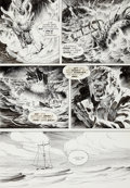 "Original Comic Art:Panel Pages, Bernie Wrightson Eerie #58 ""Pepper Lake Monster"" pageOriginal Art (Warren, 1974)...."