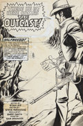 "Original Comic Art:Splash Pages, Barry Smith and Sam Grainger Western Gunfighters #4 ""HereComes the Outcast"" Splash Page 1 Original Art (Marvel, 1..."