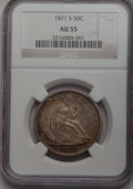 Seated Half Dollars: , 1871-S 50C AU55 NGC. NGC Census: (12/32). PCGS Population (13/36).Mintage: 2,178,000. Numismedia Wsl. Price for problem fr...
