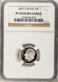 Proof Roosevelt Dimes, 2007-S 10C Silver PR70 Ultra Cameo NGC. NGC Census: (0). PCGSPopulation (246). Numismedia Wsl. Price for problem free NGC...