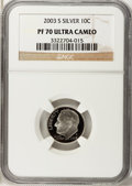 Proof Roosevelt Dimes: , 2003-S 10C Silver PR70 Ultra Cameo NGC. NGC Census: (0). PCGSPopulation (337). Numismedia Wsl. Price for problem free NGC...