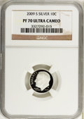Proof Roosevelt Dimes, 2009-S 10C Silver PR70 Ultra Cameo NGC. NGC Census: (0). PCGSPopulation (150). (#407276)...