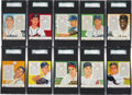 Baseball Cards:Sets, 1955 Red Man Baseball High End Near Set (48/50)....