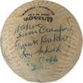 Autographs:Baseballs, 1957 Hall of Fame Induction Multi-Signed Baseball with Cobb, Foxx,Baker....