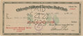 "Autographs:Checks, 1923 Roderick ""Bobby"" Wallace Signed Chicago White Sox PayrollCheck...."