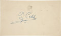 Autographs:Post Cards, 1956 Ty Cobb Signed Government Postcard....