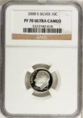 Proof Roosevelt Dimes, 2008-S 10C Silver Proof PR70 Ultra Cameo NGC. NGC Census: (0). PCGSPopulation (333). Numismedia Wsl. Price for problem fr...