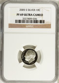 Proof Roosevelt Dimes, 2005-S 10C Silver PR69 Ultra Cameo NGC. NGC Census: (0). PCGSPopulation (299). Numismedia Wsl. Price for problem free NGC...