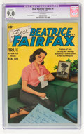 Golden Age (1938-1955):Romance, Dear Beatrice Fairfax #9 (Standard, 1951) CGC Apparent VF/NM 9.0Slight (P) White pages....