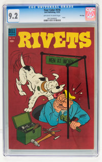 Four Color #518 Rivets File Copy (Dell, 1953) CGC NM- 9.2 Off-white to white pages