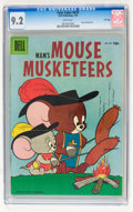 Golden Age (1938-1955):Cartoon Character, Four Color #670 Mouse Musketeers - File Copy (Dell, 1956) CGC NM-9.2 White pages....