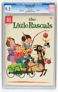 Four Color #674 The Little Rascals - File Copy (Dell, 1956) CGC NM- 9.2 White pages