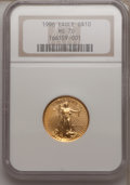 Modern Bullion Coins, 1996 G$10 Quarter Ounce Gold Eagle MS70 NGC. NGC Census: (0). PCGSPopulation (2). (#9904)...