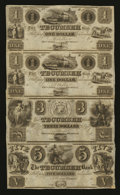 Obsoletes By State:Michigan, Tecumseh, MI- Tecumseh Bank $1-$1-$3-$5 G2-G2-G4-G6 Lee 1-2-3-4Uncut Sheet. ...