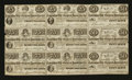 Obsoletes By State:Mississippi, Columbus, MS- Columbus Life & General Insurance Co. 25¢ (2) -50¢ (3) - 75¢ (4) Jan. 1, 1864 Kraus 51540rsb Uncut Sheet. ...