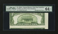 Error Notes:Skewed Reverse Printing, Fr. 1962-L $5 1950A Federal Reserve Note. PMG Choice Uncirculated64 EPQ.. ...