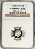 Proof Roosevelt Dimes, 2005-S 10C Silver PR70 Ultra Cameo NGC. NGC Census: (0). PCGSPopulation (299). Numismedia Wsl. Price for problem free NGC...