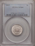 Shield Nickels: , 1869 5C MS64 PCGS. PCGS Population (129/62). NGC Census: (140/103).Mintage: 16,395,000. Numismedia Wsl. Price for problem ...