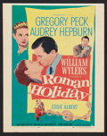 "Movie Posters:Romance, Roman Holiday (Paramount, 1953). Window Card (14"" X 18""). Romance....."