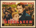 "Movie Posters:Adventure, The Buccaneer (Paramount, 1938). Half Sheet (22"" X 28"") Style A.Adventure.. ..."