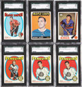 Hockey Cards:Lots, 1965-72 Topps Hockey SGC Graded Cards Lot of 6....